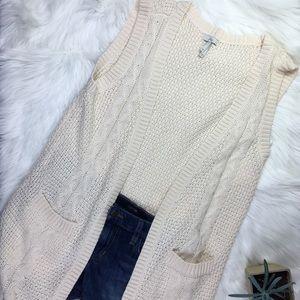 Joie cotton longline cream cardigan